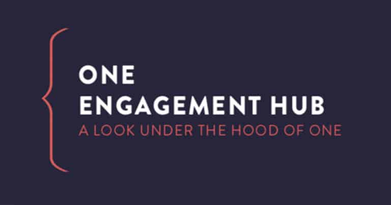 The ONE Engagement Hub: a look under the hood