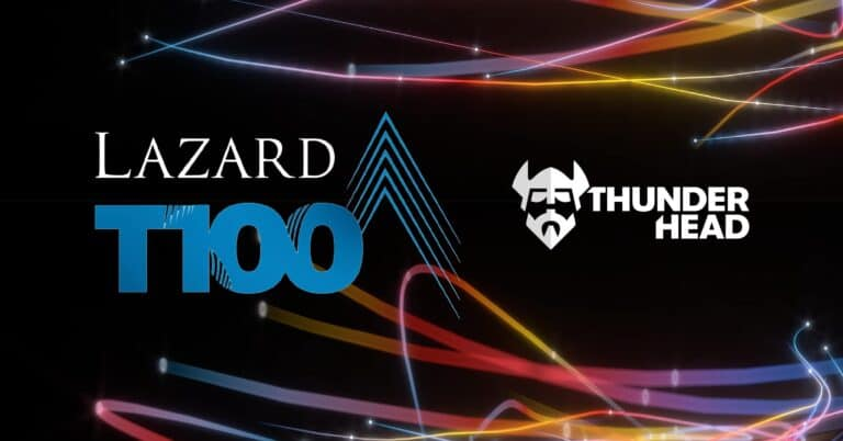 Thunderhead included in Lazard European Venture Growth Index (T100)